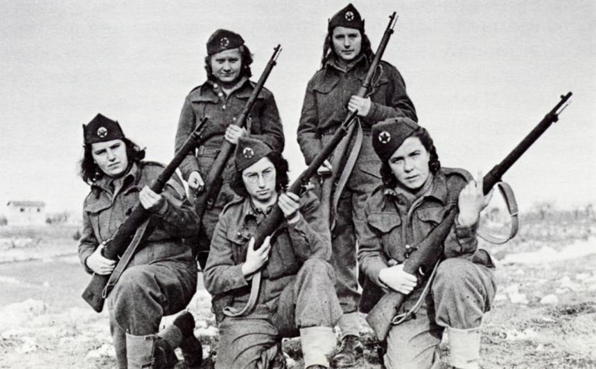 Mulheres lutando pelos partisanos de Tito.