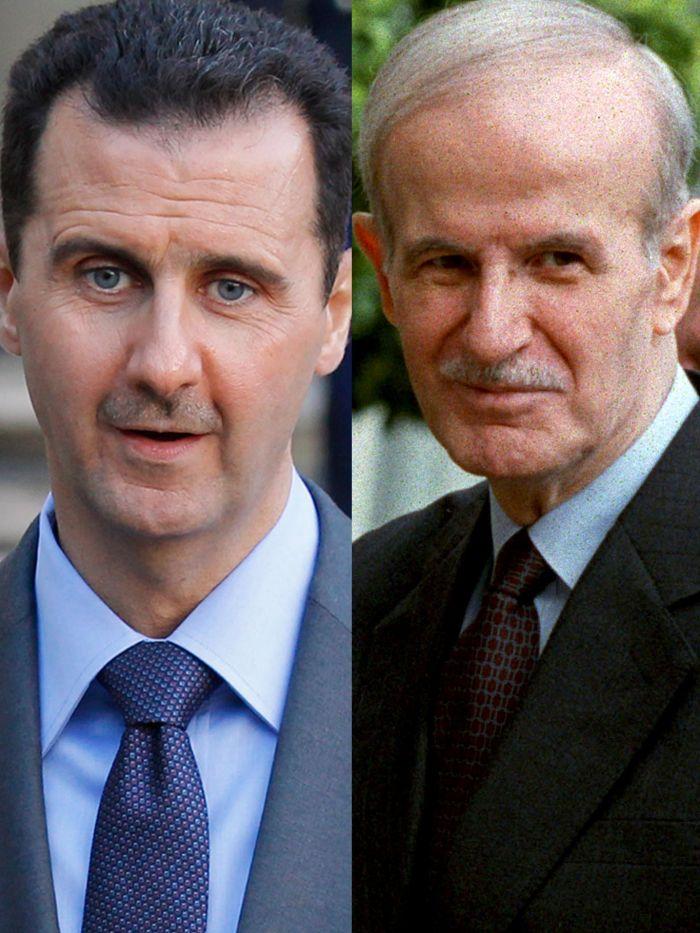 Bashar al-Assad e Hafez al-Assad