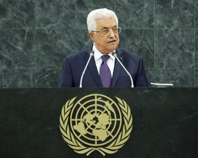 Mahmoud Abbas ontem, na 68ª Assembleia Geral da ONU UN Photo/Evan Schneider