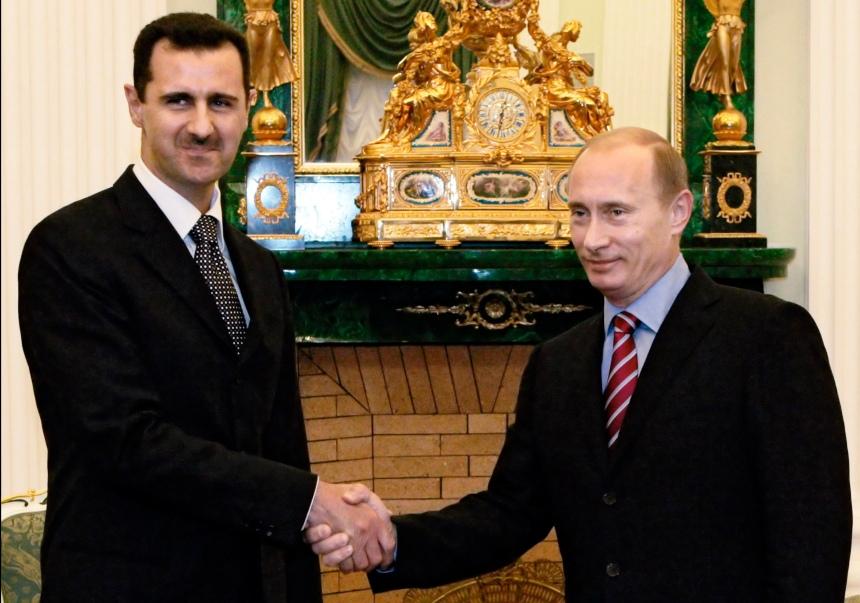 Assad e Putin em 2006  Foto: AP/RIA Novosti, Mikhail Klimentyev