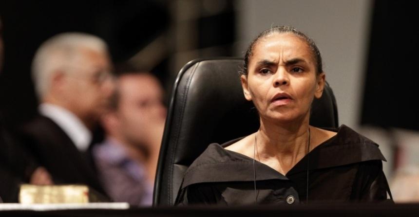 Marina Silva, aparentemente confusa, na 41ª Assembleia Geral da Convenção Geral das Assembleias de Deus no Brasil (CGADB) no dia 8 de Abril de 2013.   Foto: Sergio Lima/Folhapress