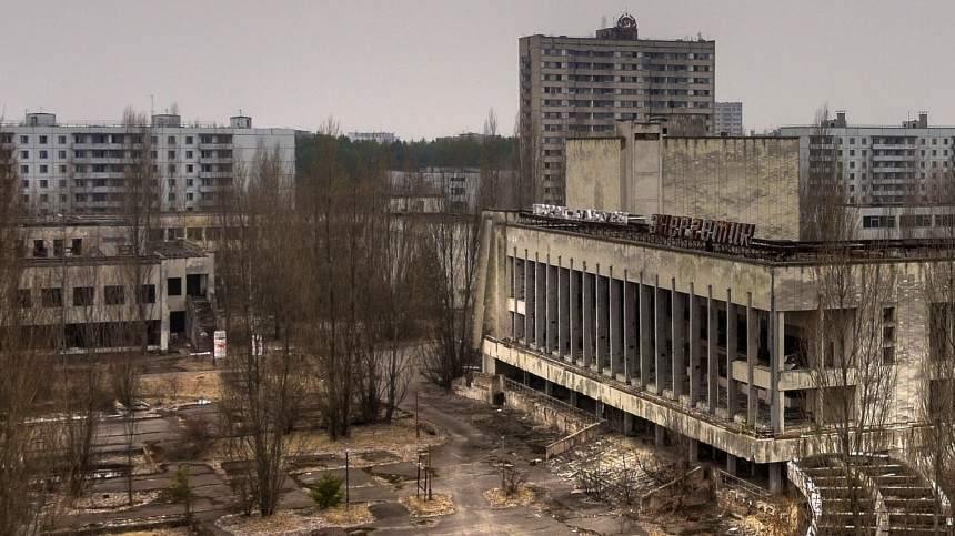A cidade-fantasma de Pripyat, onde está a usina nuclear de Chernobyl.