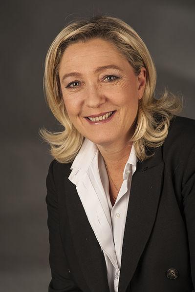 Marine Le Pen, filha de Jean-Marie Le Pen, líder da extrema direita francesa, o rosto da Frente Nacional francesa na Europa. Foto: Foto-AG Gymnasium Melle