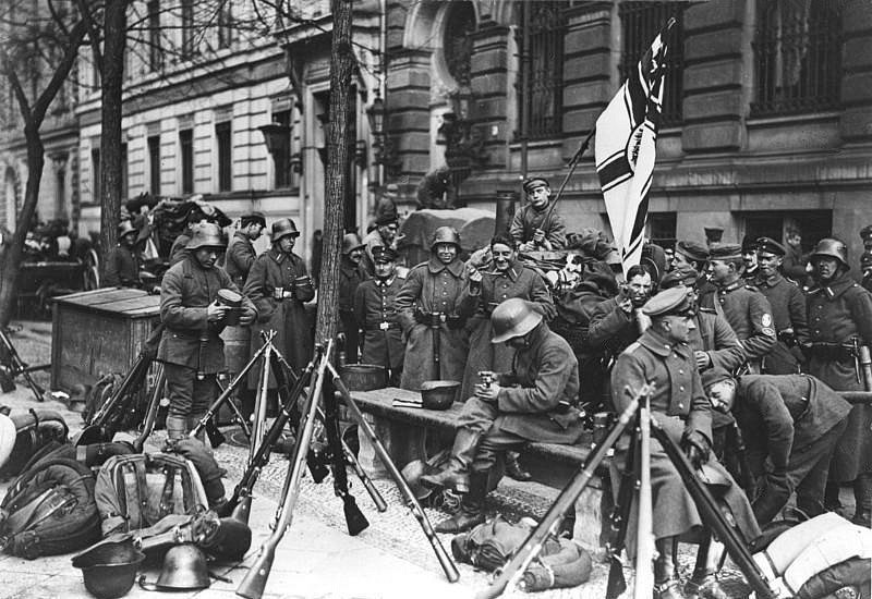 Tropas da Marinebrigade Ehrhardt em Berlim