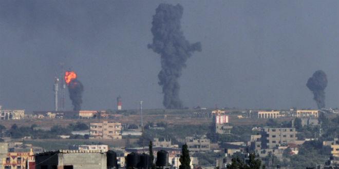 Ataque aéreo de Israel na Faixa de Gaza