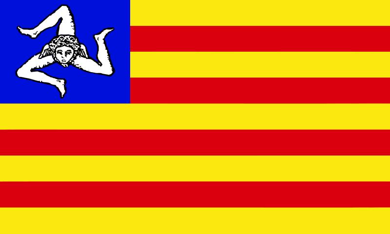 Bandeira proposta da Sicília independente