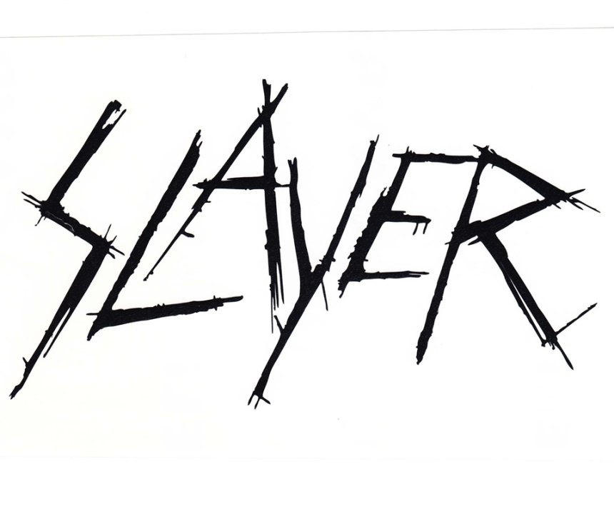 Logo da banda de thrash-metal Slayer.