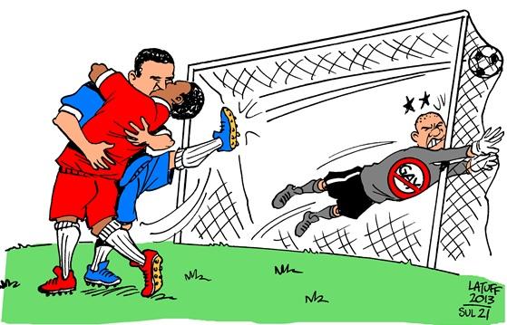 Charge do cartunista Carlos Latuff para o Jornal Sul 21.