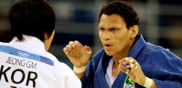 A judoca Edinanci Silva nos Jogos Olímpicos de Pequim, em 2008. Foto: Flavio Florido/UOL/Folha Imagem