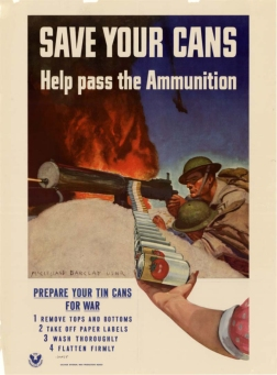 """""""Guarde suas latas. Ajude passar a munição!"""""""
